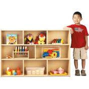 "Young TimeThree Shelf Storage, 48""W x 12""D x 32-1/2""H, Maple Laminate, Unassembled"