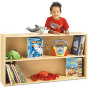 "Young TimeStraight Shelf Storage, 48""W x 12""D x 26-1/2""H, Maple Laminate, Assembled"