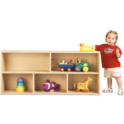 "Young TimeToddler Two Shelf Storage, 48""W x 12""D x 21-1/2""H, Maple Laminate, Assembled"