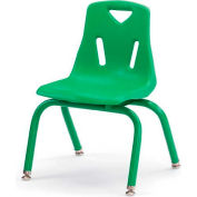 "Jonti-Craft® Berries® Plastic Chair with Powder Coated Legs - 10"" Ht - Green"