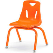 "Jonti-Craft® Berries® Plastic Chair with Powder Coated Legs - 12"" Ht - Orange"