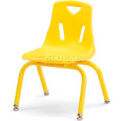 "Jonti-Craft® Berries® Plastic Chair with Powder Coated Legs - 12"" Ht - Set of 6 - Yellow"