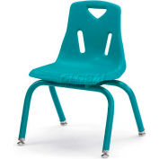 "Jonti-Craft® Berries® Plastic Chair with Powder Coated Legs - 14"" Ht - Teal"