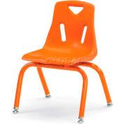 "Jonti-Craft® Berries® Plastic Chair with Powder Coated Legs - 14"" Ht - Orange"