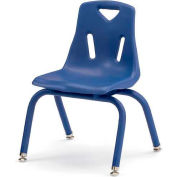"Jonti-Craft® Berries® Plastic Chair with Powder Coated Legs - 16"" Ht - Set of 6 - Blue"