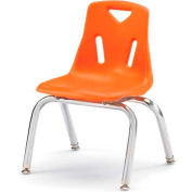"Jonti-Craft® Berries® Plastic Chair with Chrome-Plated Legs - 10"" Ht - Orange"