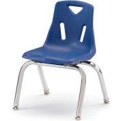 "Jonti-Craft® Berries® Plastic Chair with Chrome-Plated Legs - 14"" Ht - Blue"