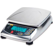 "Ohaus FD15 AM Food Portioning Digital Scale 30lb x 0.005lb 8-1/4"" x 8-1/4"" Platform"