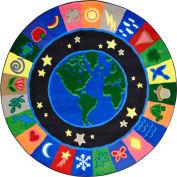 "Joy Carpets EarthWorks™ Classroom Carpets 13'2"" Round, Multi - 1405XLE"