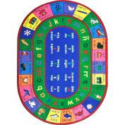 "Joy Carpets LenguaLink™ Classroom Carpets 7'8"" x 10'9""Oval, Multi - 1412DD"