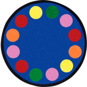 """Joy Carpets Lots of Dots™ Classroom Carpets 13'2"""" Round, Primary - 1430XLE-01"""