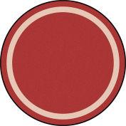 """Joy Carpets Portrait™ Classroom Carpets 5'4"""" Round, Wine - 1479H-01"""