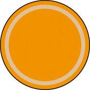 "Joy Carpets Portrait™ Classroom Carpets 5'4"" Round, Goldenrod - 1479H-02"