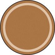 """Joy Carpets Portrait™ Classroom Carpets 5'4"""" Round, Mocha - 1479H-05"""