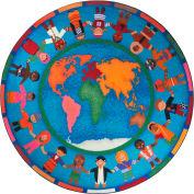 "Joy Carpets Hands Around the World™ Classroom Carpets 13'2"" Round, Multi - 1488XLE"