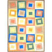 "Joy Carpets Off Balance™ Classroom Carpets 3'10"" x 5'4"", Soft - 1530B-02"