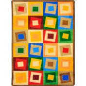 "Joy Carpets Off Balance™ Classroom Carpets 3'10"" x 5'4"", Neutral - 1530B-03"