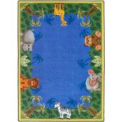 "Joy Carpets Jungle Friends™ Classroom Carpets 3'10"" x 5'4"", Multi - 1579B"