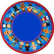 "Joy Carpets Children of Many Cultures™ Classroom Carpets 7'7"" Round, Multi - 1622E"