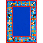 "Joy Carpets Children of Many Cultures™ Classroom Carpets 10'9""x 13'2"", Multi - 1622G"