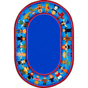"""Joy Carpets Children of Many Cultures™ Classroom Carpets 10'9""""x 13'2"""" Oval, Multi - 1622GG"""