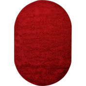 Joy Carpets Endurance™ Classroom Carpets 6' x 9' Oval, Burgundy - 80QQ-01