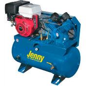 Jenny® Service Vehicle Compressor G9HGA-30T, 9HP, Honda Rope Start, 125 PSI, 30 Gal
