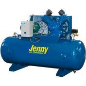 Jenny® Horizontal Stationary Compressor GT5B-80-230V, 1PH, 5HP, 175 PSI, 80 Gal
