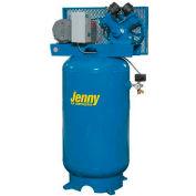 Jenny® Vertical Stationary Compressor GT5B-80V-230V, 1PH, 5HP, 175 PSI, 80 Gal