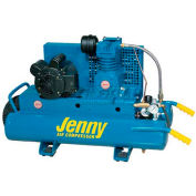 Jenny® Wheeled Portable Compressor K15A-8P-115V, 1PH, 1.5HP, 125 PSI, 8 Gal