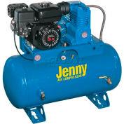 Jenny® K5HGA-30T, 5.5 HP, Stationary Gas Compressor, 30 Gallon, 125 PSI, 8.6 CFM, Honda, Recoil