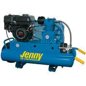 Jenny® K5HGA-8P, 5.5 HP, Wheelbarrow Gas Compressor, 8 Gallon, 125 PSI, 8.6 CFM, Honda, Recoil
