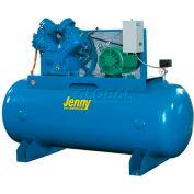 Jenny® U75B-80, 7.5HP, Two-Stage Compressor, 80 Gallon, Horiz., 175 PSI, 27.2 CFM, 1-Phase 230V