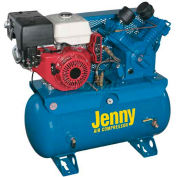 Jenny® Service Vehicle Compressor W11HGB-30T, 11HP, Honda Electric Start, 175 PSI, 30 Gal Tank