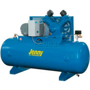 Jenny® Horizontal Stationary Compressor W5B-80-230V, 1PH, 5HP, 175 PSI, 80 Gal