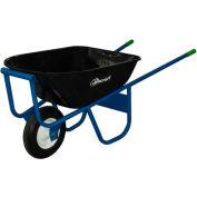 Jescraft™ All-Welded Steel Wheelbarrow SWA-610FF - 6 Cu. Ft. Capacity