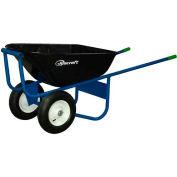 Jescraft™ All-Welded Steel Wheelbarrow SWA-620FF - 6 Cu. Ft. Capacity