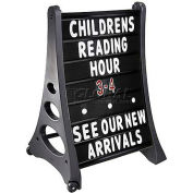 "Magic Master Qla Standard Message Board 24""W X 36""H-Black"