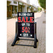 "Magic Master Swinger Message Board Sign Deluxe 24""W X 36""H - Black"