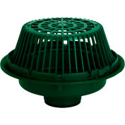 """Josam 21506-Z Large Sump Roof Drain w/Poly Dome and 6"""" No-Hub Outlet"""