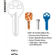 Jet Key Blanks KW10-PB, Brass, Residential, Package Qty 10
