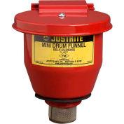 "Justrite® 8201 4-1/2"" dia. Steel Funnel - Self-Closing Cover & 1"" Flame Arrester"
