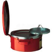 Justrite Bench Can, 1-Gallon, w/ Basket, Red, 10370