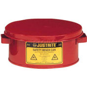 Justrite Bench Can, 1-Gallon, Red, 10375