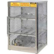 "Justrite Horizontal, 6 Cylinder, Aluminum Storage Cabinet, 30""W x 32""D x 49-1/2""H"