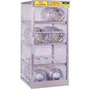 "Justrite Horizontal, 8 Cylinder, Aluminum Storage Cabinet, 30""W x 32""D x 65""H"