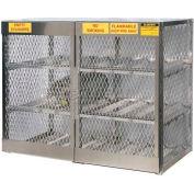 "Justrite Horizontal, 12 Cylinder, Aluminum Storage Cabinet, 60""W x 32""D x 49-1/2""H"