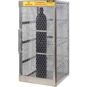 "Justrite Vertical, 5-10 Cylinder, Aluminum Storage Cabinet, 30""W x 32""D x 65""H"