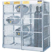 "Justrite Combo Horizontal & Vertical Cylinder Aluminum Storage Cabinet, 60""W x 32""D x 65""H"