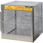 "Justrite Vertical, 4 Cylinder, Aluminum Storage Cabinet, 30""W x 32""D x 33-1/2""H"